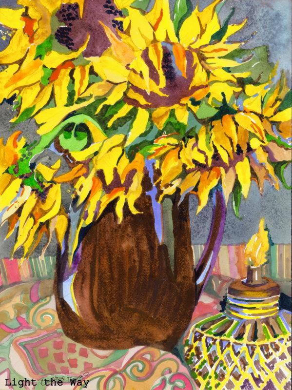 28-Sunflowers at Dusk